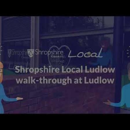 Shropshire local Ludlow walk through