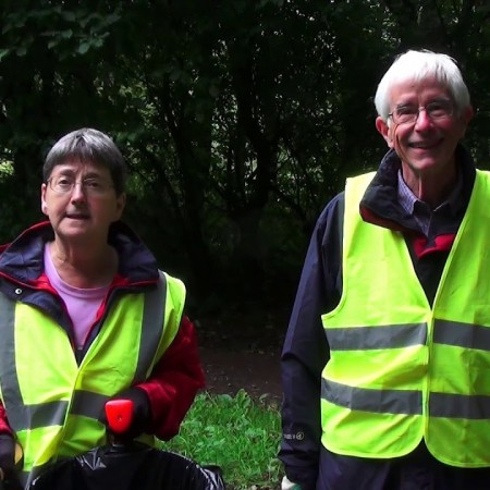 Market Drayton branch: cleaning up nature reserves
