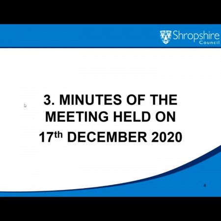 Recording of Council Meeting 25 Feb 21