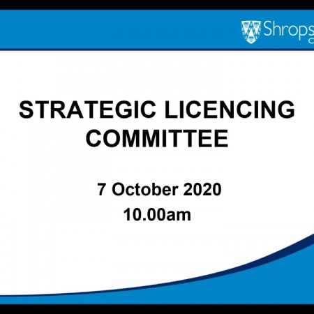 Strategic Licensing 7 October 2020